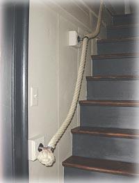 stair rope on stairway
