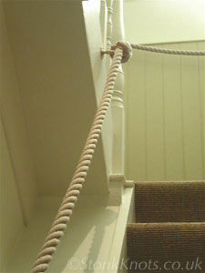 Rope Hand Rail On Stairway